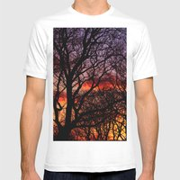 Winter Trees Mens Fitted Tee White SMALL