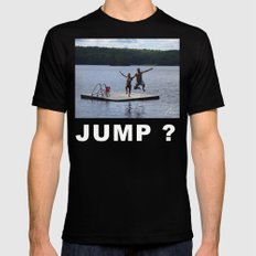 Jump? Mens Fitted Tee Black SMALL