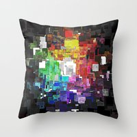 Spectral Geometric Abstract Throw Pillow