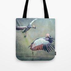 Cranes arriving Tote Bag