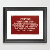 Danger Mullet Framed Art Print