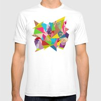 Colorful Thoughts Mens Fitted Tee White SMALL
