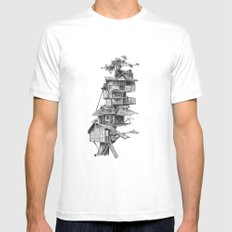 Treehouse Mens Fitted Tee SMALL White