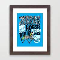 Party Horses Framed Art Print