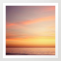 Sunset Over The Pacific … Art Print