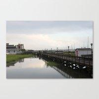 Dock/Water/South Carolina/Charleston Canvas Print