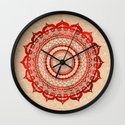 omulyána red gallery mandala Wall Clock