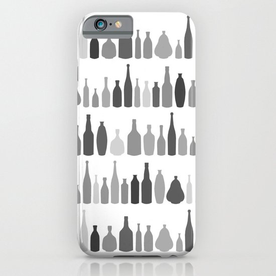 Bottles Black and White on White iPhone & iPod Case