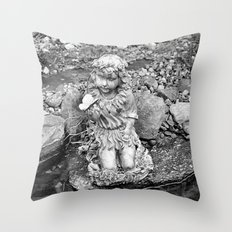 Butterfly Pond IV Throw Pillow