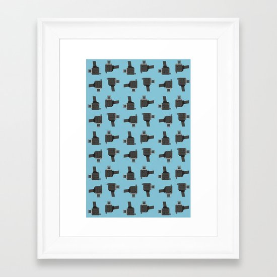 camera 03 pattern Framed Art Print