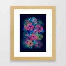 Midnight bloom Framed Art Print