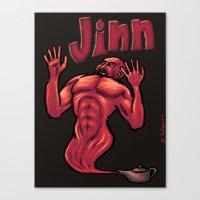 Evil JInn Canvas Print