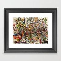 Managed Mayhem Framed Art Print