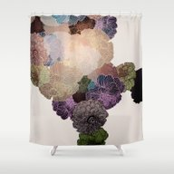 Shower Curtain featuring Florals // Pattern III by Annabours