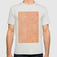 Stockinette Orange Mens Fitted Tee Silver SMALL