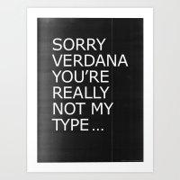 Sorry Verdana You're Rea… Art Print