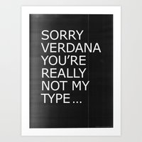 Sorry Verdana You're Rea… Art Print