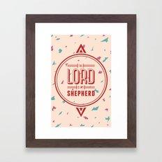 Psalm 23:1 Framed Art Print