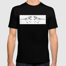 Black and White Blue Jay SMALL Black Mens Fitted Tee
