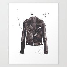 Motorcycle Jacket Art Print