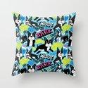 Boston Terrier Pattern Throw Pillow