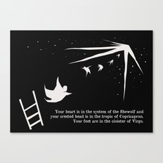 your feet are in the cloister of virgo Canvas Print