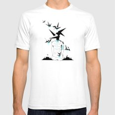 Origami's dream - A collaboration between Christelle Guilhen and Gwenola de Muralt - Mens Fitted Tee White SMALL