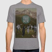 Break The Ice Mens Fitted Tee Athletic Grey SMALL