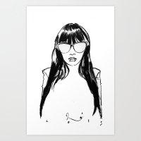 Ms. Shock & P0p Art Print