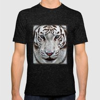 BLUE-EYED BOY Mens Fitted Tee Tri-Black SMALL