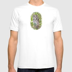 Screech Owl Mens Fitted Tee White SMALL