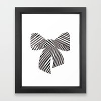 Watercolour Bow Framed Art Print