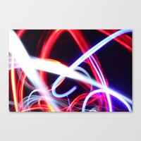 Lightpainting Abstract Canvas Print