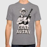 Gene Autry Mens Fitted Tee Tri-Grey SMALL