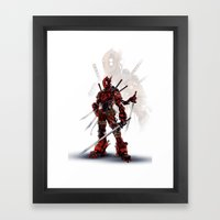 Mecha with a Mouth  Framed Art Print