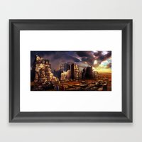 Building Up Jerusalem Framed Art Print