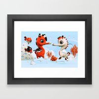 Sea Love Framed Art Print