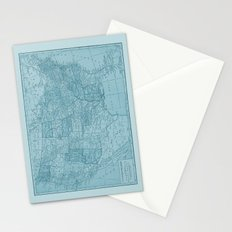 Vintage America in Blue Stationery Cards
