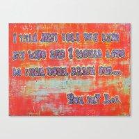 Pickup Lines - Brain Canvas Print
