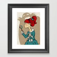 candy monster Framed Art Print