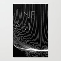Line Art Canvas Print