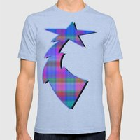 Misty Plaid  Mens Fitted Tee Athletic Blue SMALL
