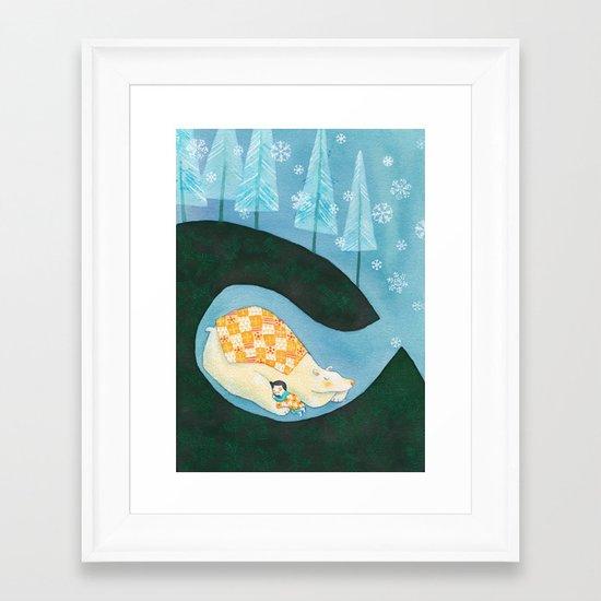 Hibernating Together Framed Art Print