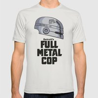 Full Metal Cop Mens Fitted Tee Silver SMALL