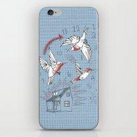 Cuckoo clocking iPhone & iPod Skin