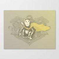 Fearless Creature: Chimp… Canvas Print