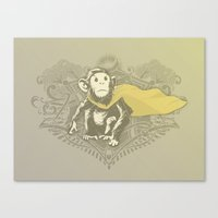 Fearless Creature: Chimpy Canvas Print