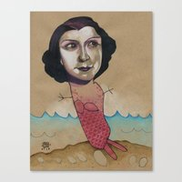 PINK MERMAID Canvas Print
