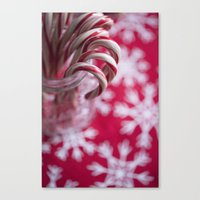 Candy Cane Christmas  Canvas Print