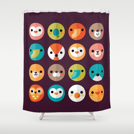 SMILEY FACES 1 Shower Curtain